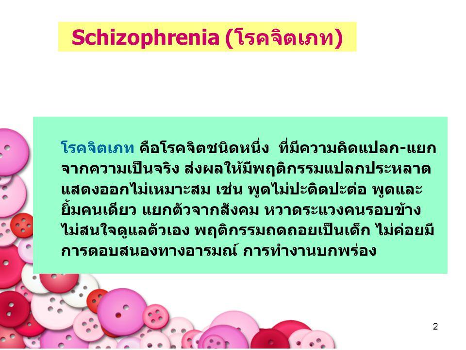 Schizophrenia (โรคจิตเภท)