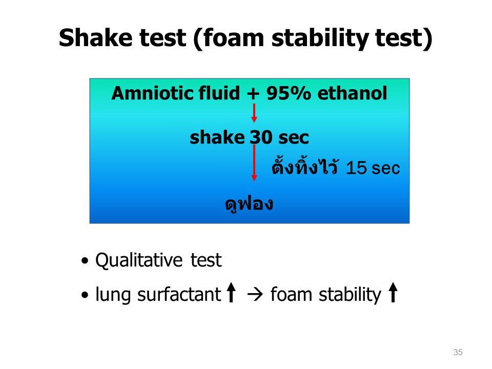 Shake test (foam stability test)