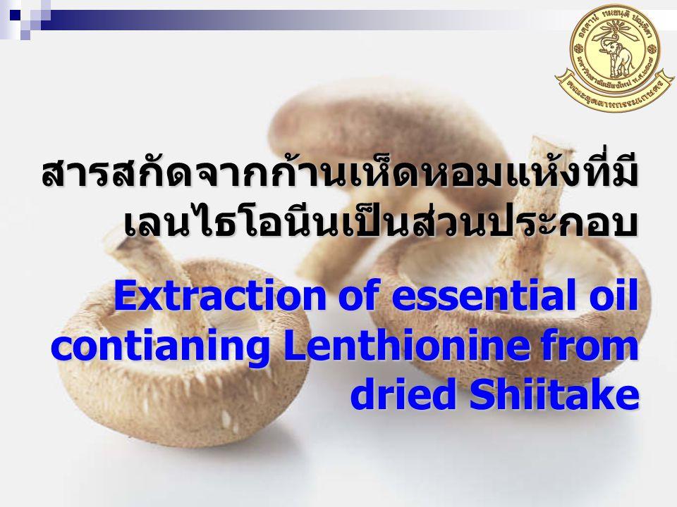 สารสกัดจากก้านเห็ดหอมแห้งที่มีเลนไธโอนีนเป็นส่วนประกอบ
