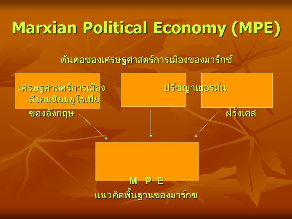 Marxian Political Economy (MPE)