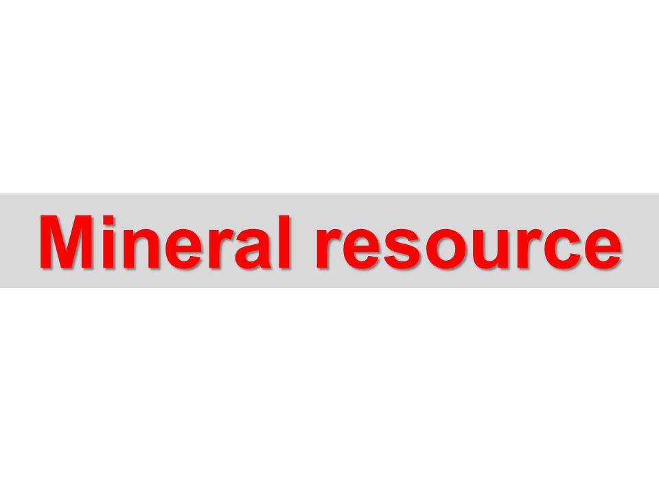Mineral resource