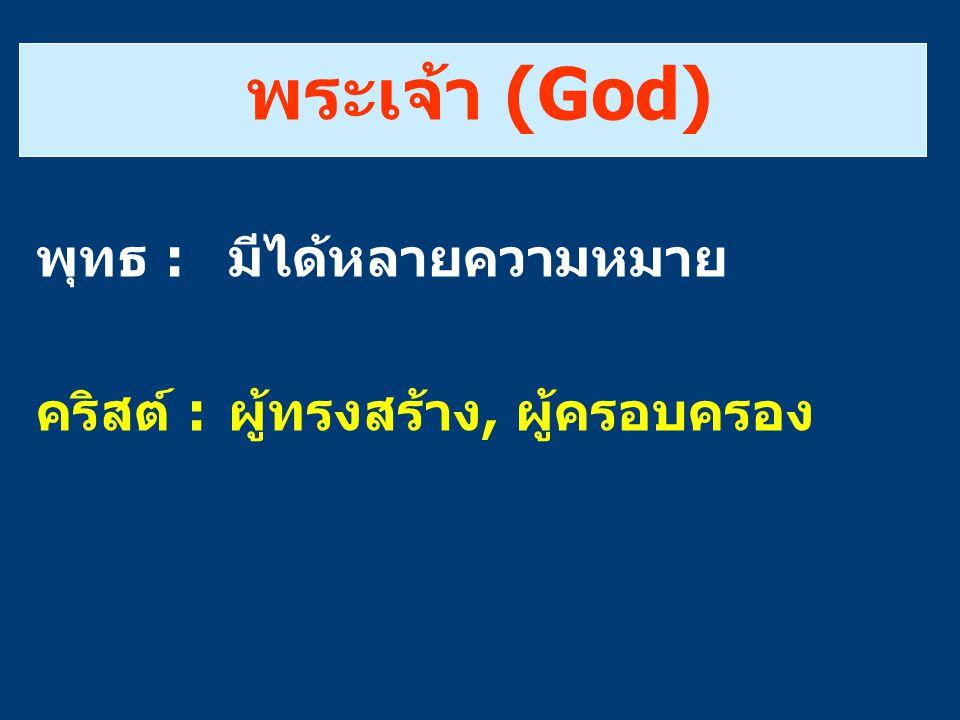 พระเจ้า (God) พุทธ : มีได้หลายความหมาย