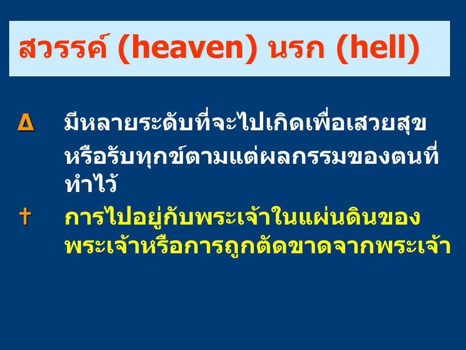 สวรรค์ (heaven) นรก (hell)