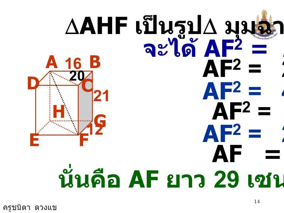 นั่นคือ AF ยาว 29 เซนติเมตร