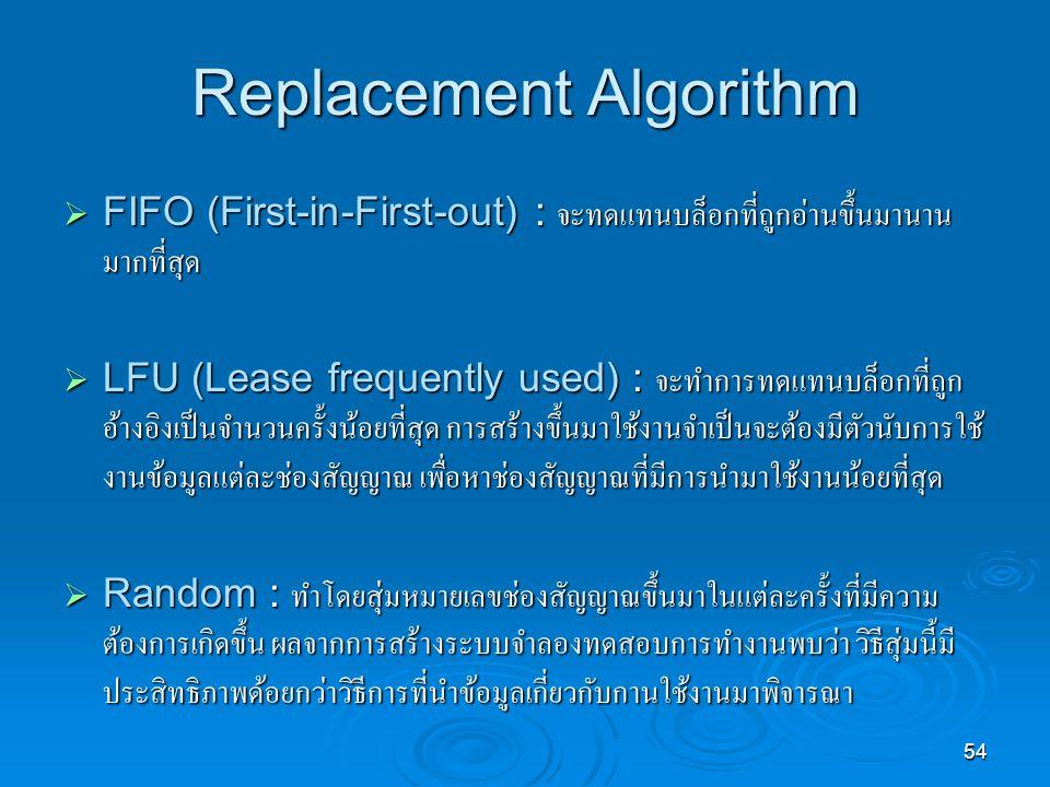 Replacement Algorithm
