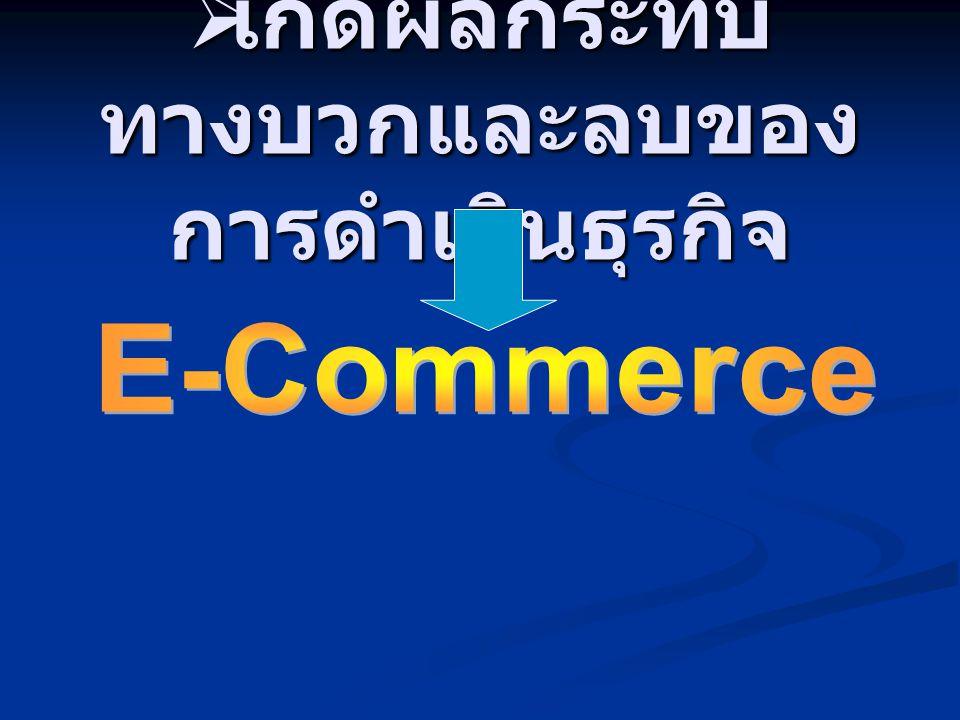 เกิดผลกระทบทางบวกและลบของการดำเนินธุรกิจ