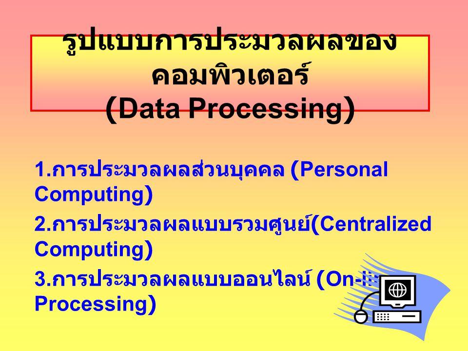 รูปแบบการประมวลผลของคอมพิวเตอร์ (Data Processing)