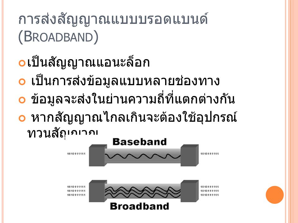 การส่งสัญญาณแบบบรอดแบนด์ (Broadband)