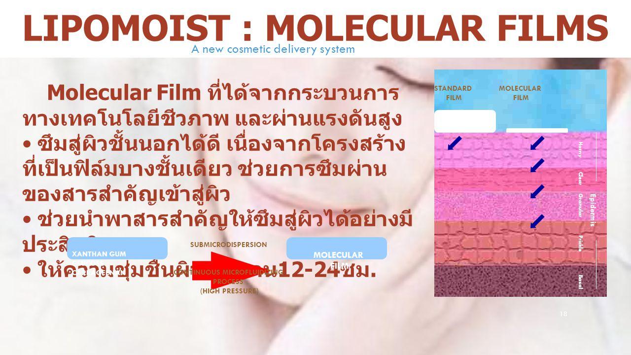 Lipomoist : MOLECULAR FILMS