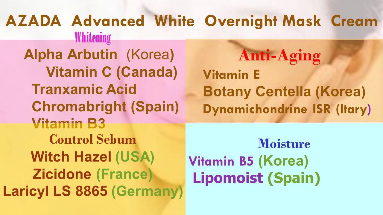 AZADA Advanced White Overnight Mask Cream