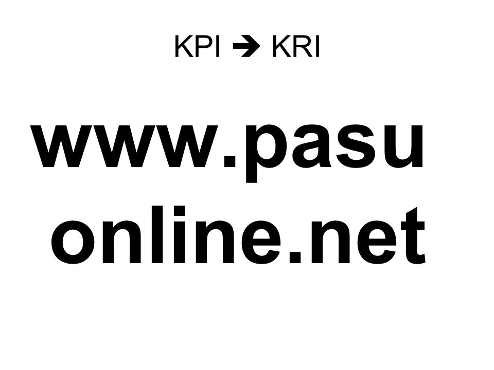 KPI  KRI www.pasuonline.net