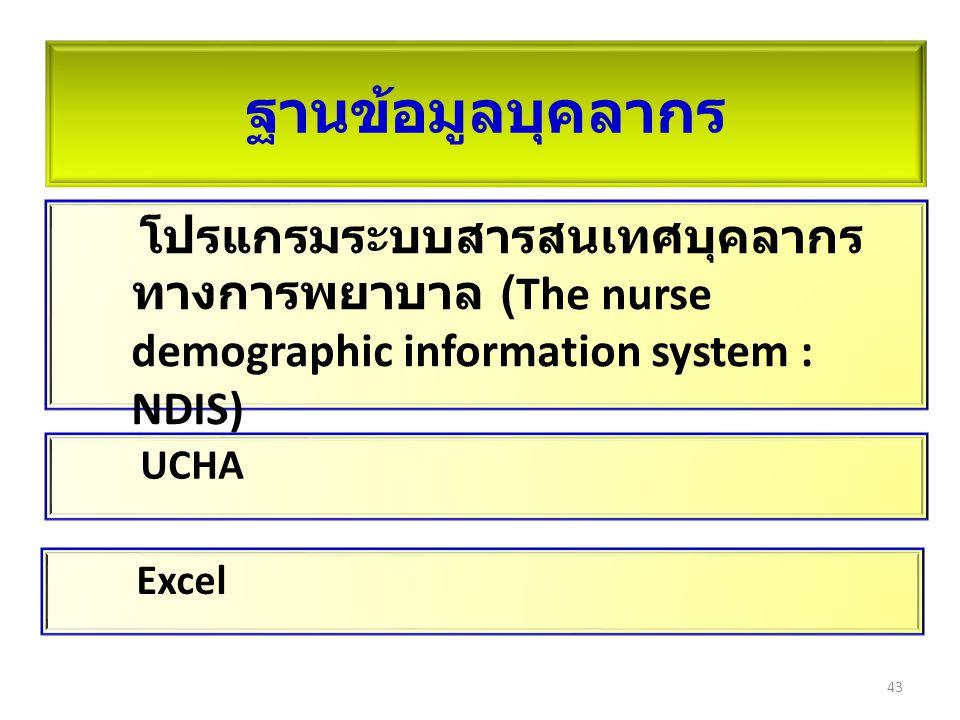 ฐานข้อมูลบุคลากร โปรแกรมระบบสารสนเทศบุคลากรทางการพยาบาล (The nurse demographic information system : NDIS)