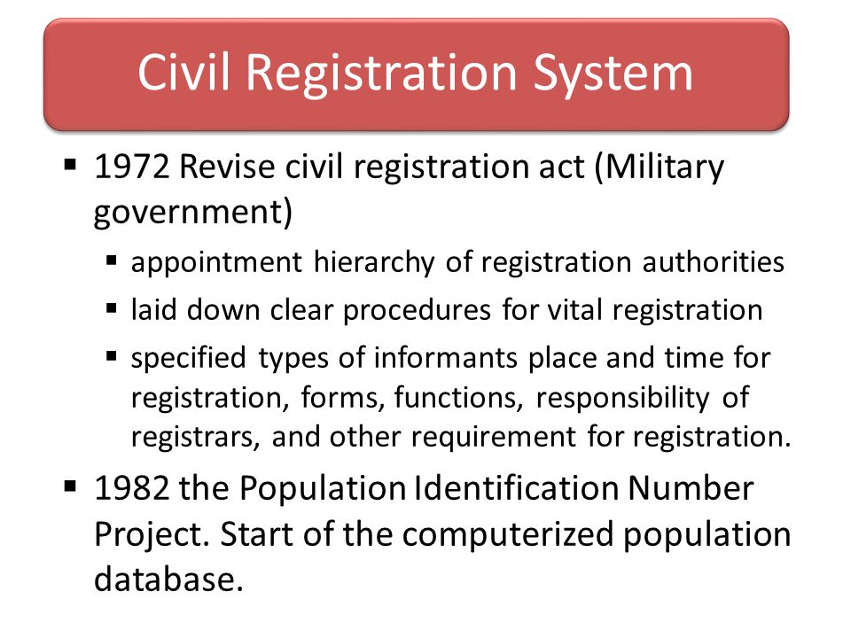 Civil Registration System