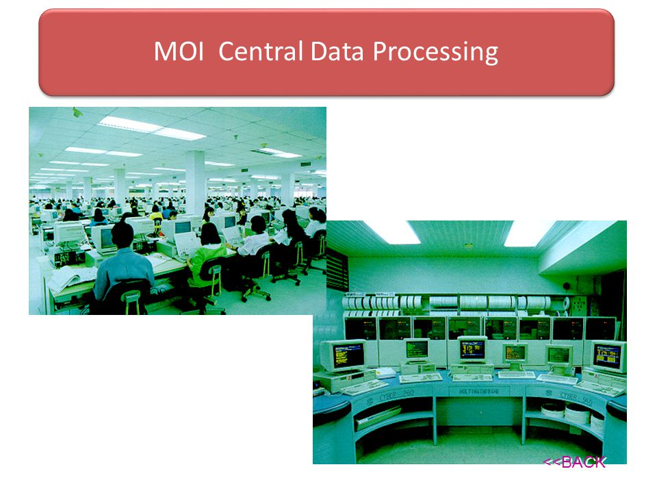 MOI Central Data Processing