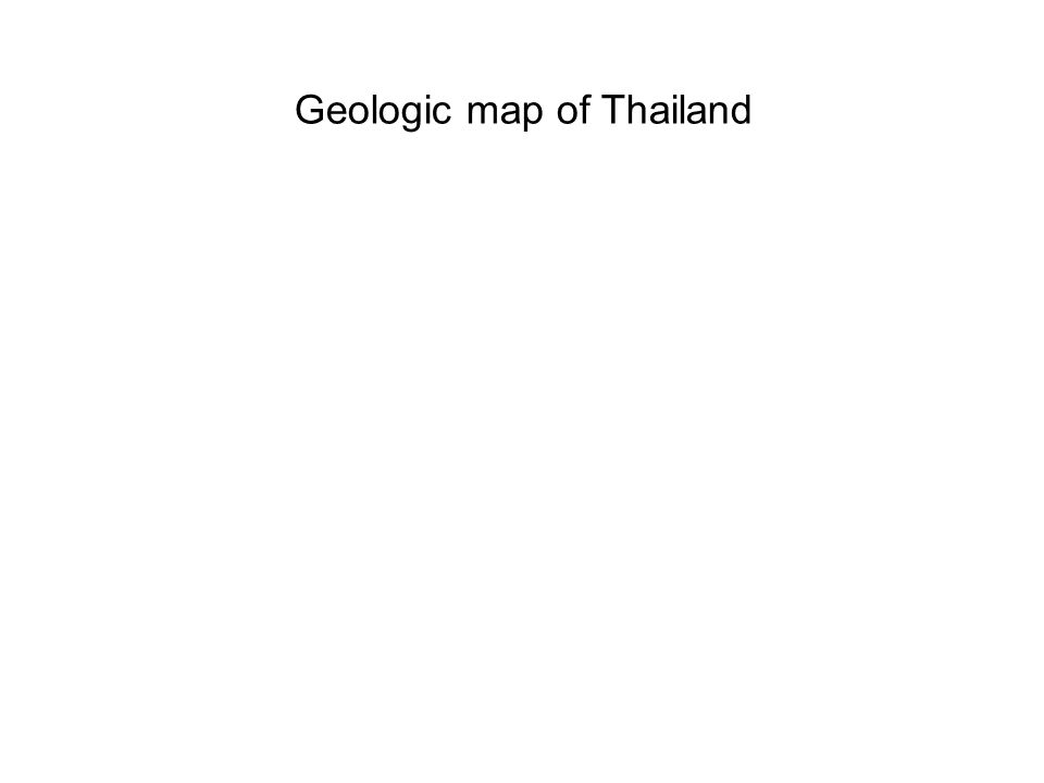 Geologic map of Thailand