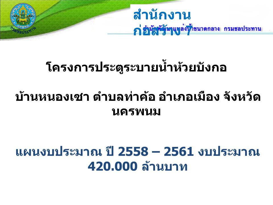 แผนงบประมาณ ปี 2558 – 2561 งบประมาณ 420.000 ล้านบาท