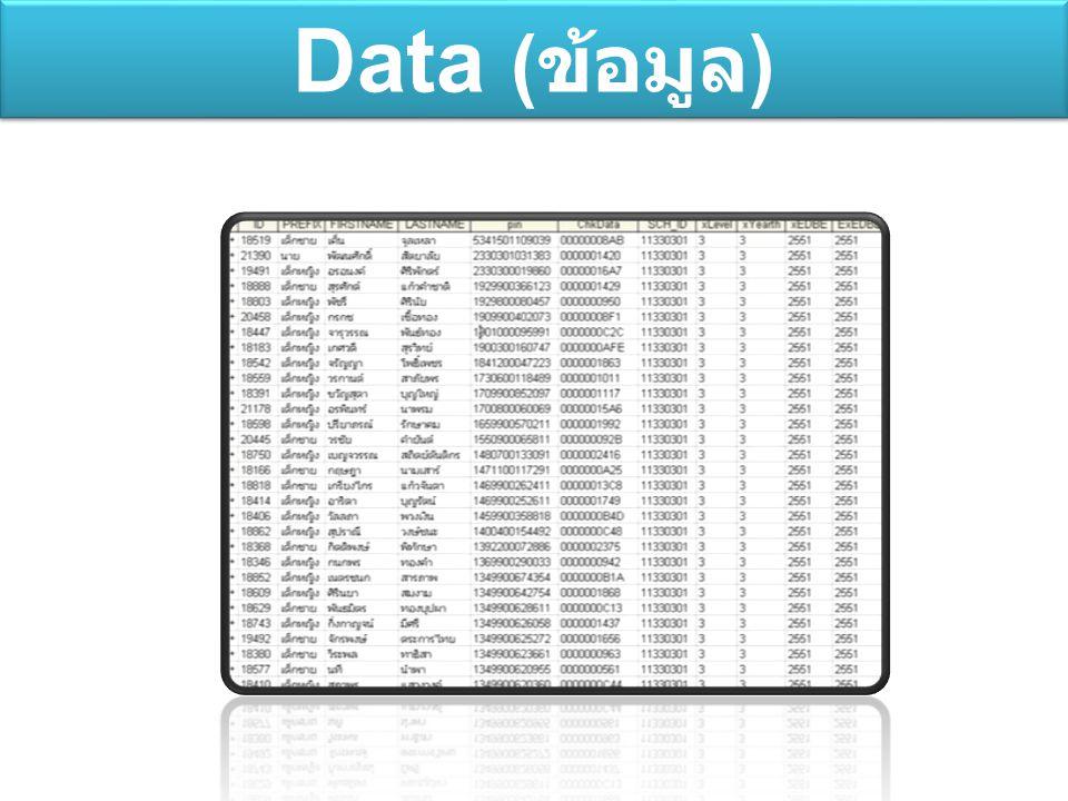 Data (ข้อมูล)