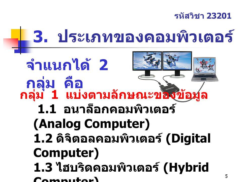 3. ประเภทของคอมพิวเตอร์