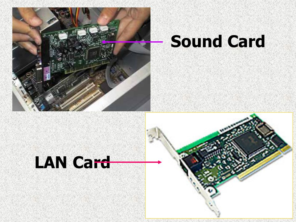 Sound Card LAN Card