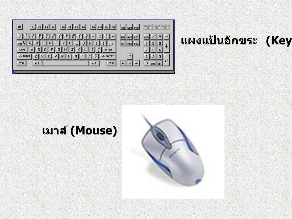 แผงแป้นอักขระ (Keyboard)