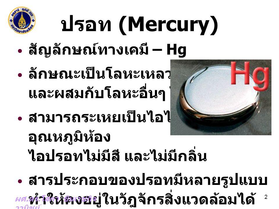ปรอท (Mercury) สัญลักษณ์ทางเคมี – Hg