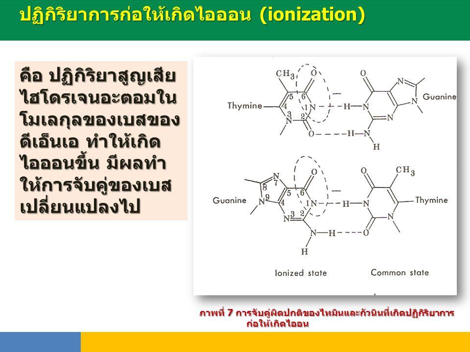 ปฏิกิริยาการก่อให้เกิดไอออน (ionization)