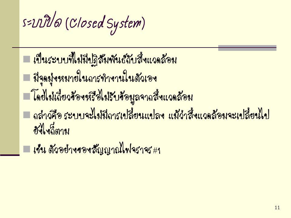 ระบบปิด (Closed System)