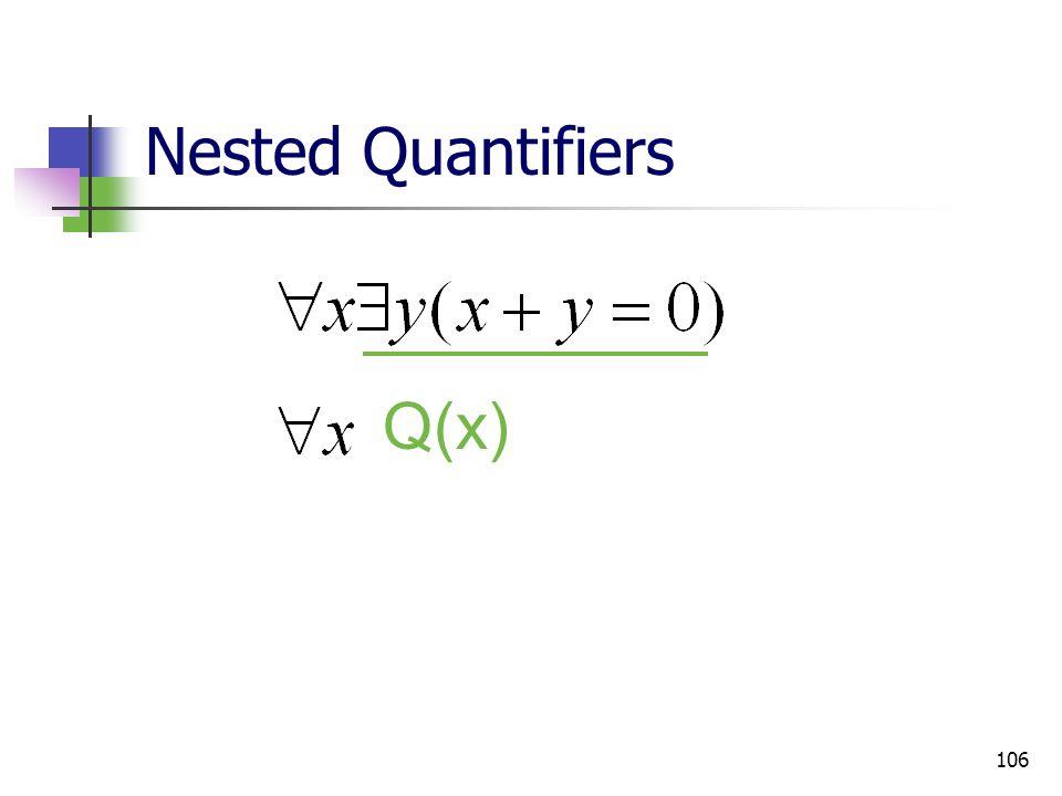 Nested Quantifiers Q(x)