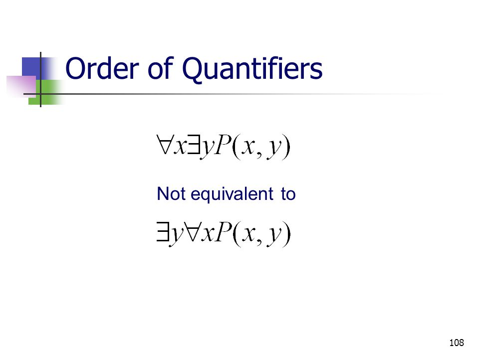 Order of Quantifiers Not equivalent to