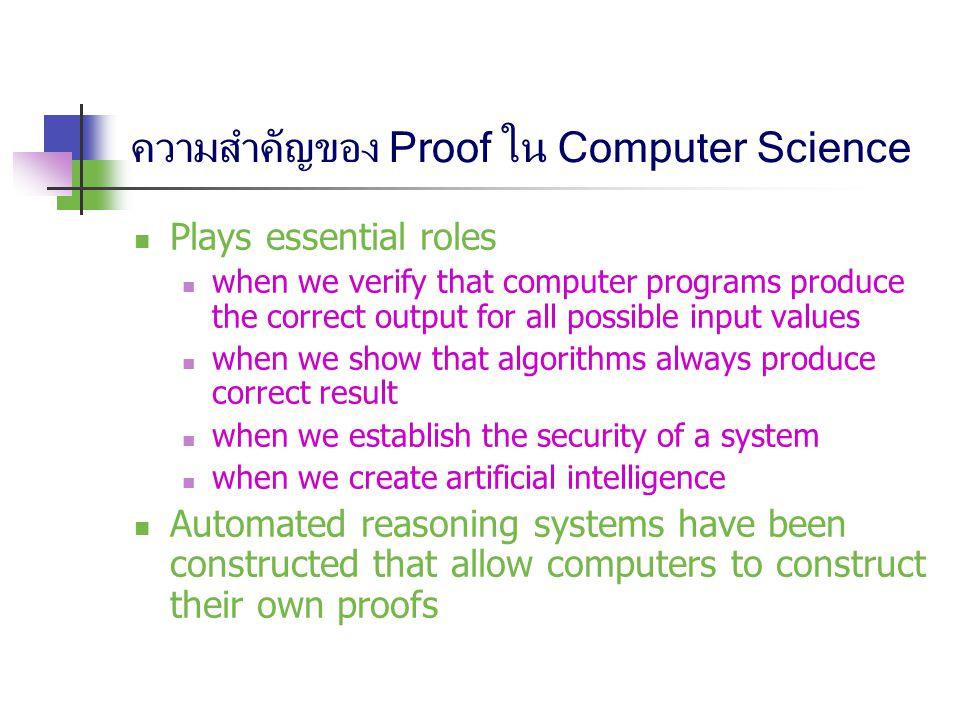 ความสำคัญของ Proof ใน Computer Science
