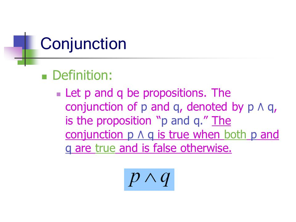 Conjunction Definition: