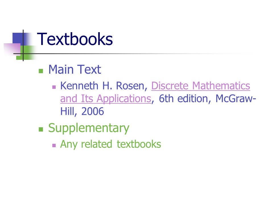 Textbooks Main Text Supplementary