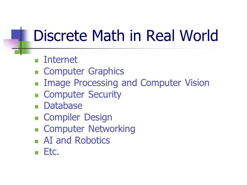 Discrete Math in Real World