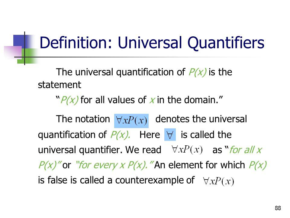 Definition: Universal Quantifiers