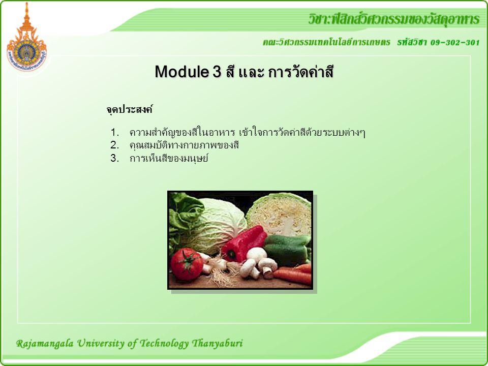 Module 3 สี และ การวัดค่าสี