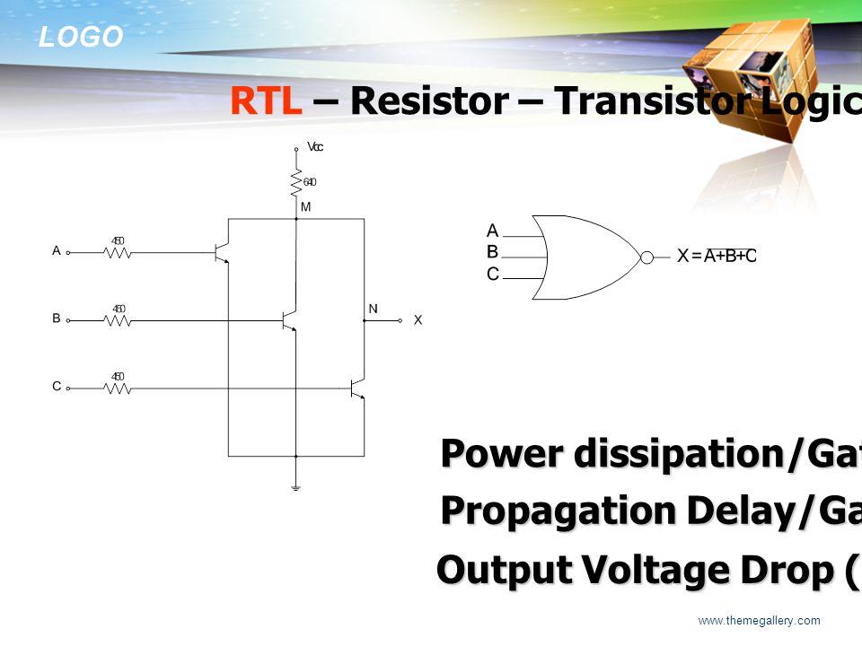 RTL – Resistor – Transistor Logic