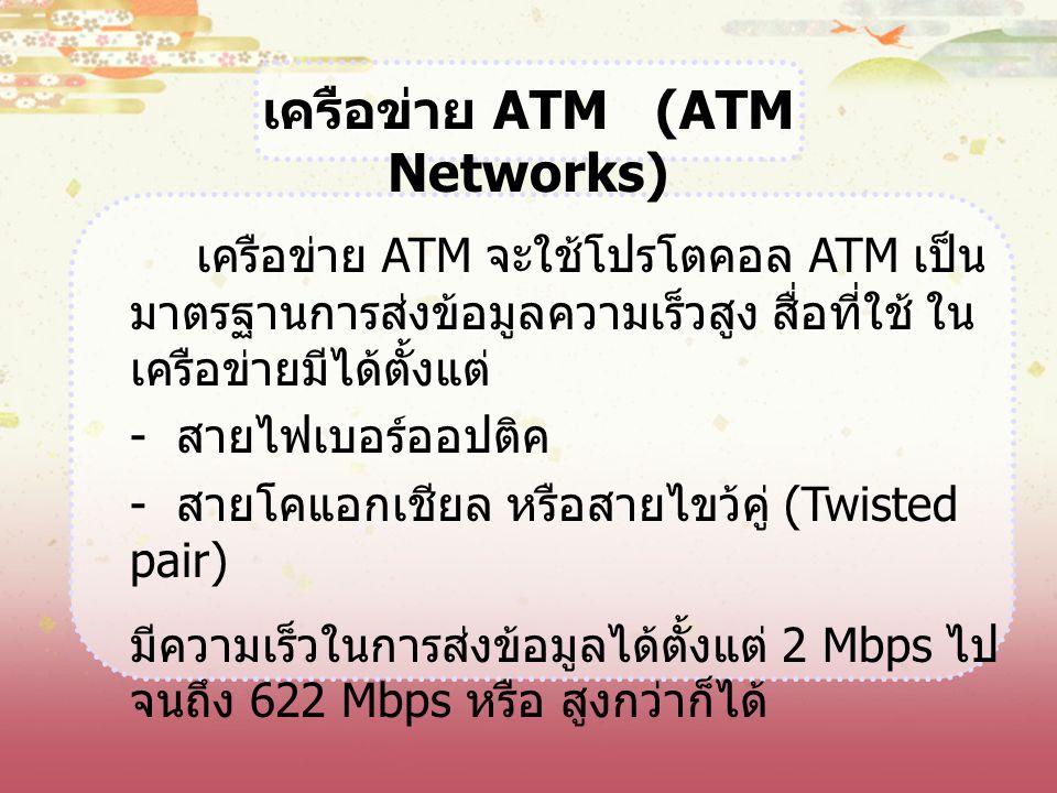เครือข่าย ATM (ATM Networks)