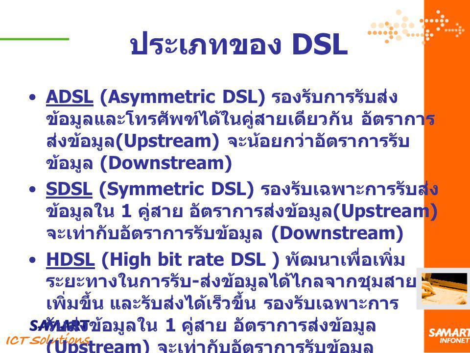 ประเภทของ DSL