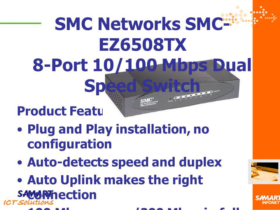 8-Port 10/100 Mbps Dual Speed Switch