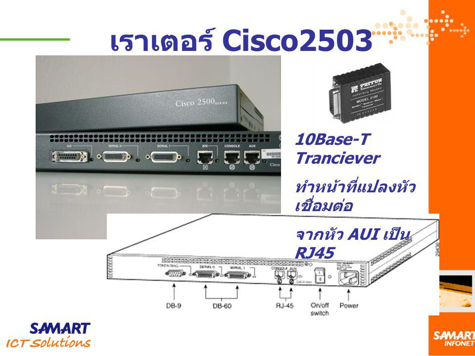 เราเตอร์ Cisco2503 10Base-T Tranciever ทำหน้าที่แปลงหัวเชื่อมต่อ