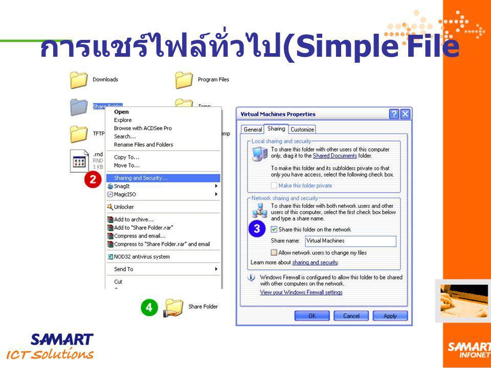 การแชร์ไฟล์ทั่วไป(Simple File Sharing )