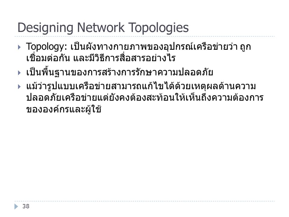 Designing Network Topologies