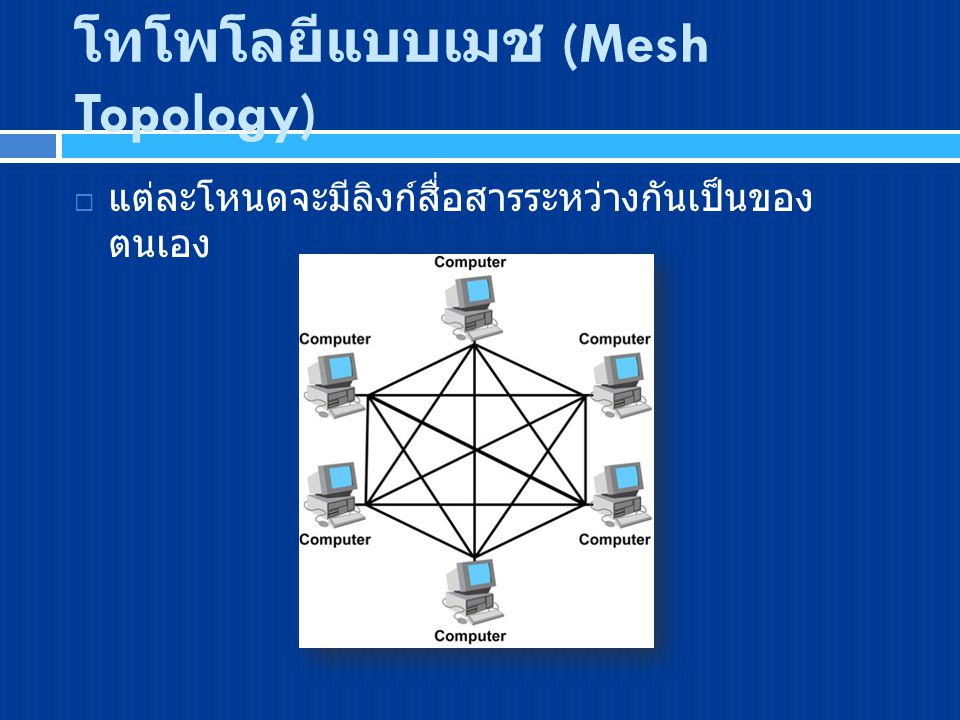 โทโพโลยีแบบเมช (Mesh Topology)