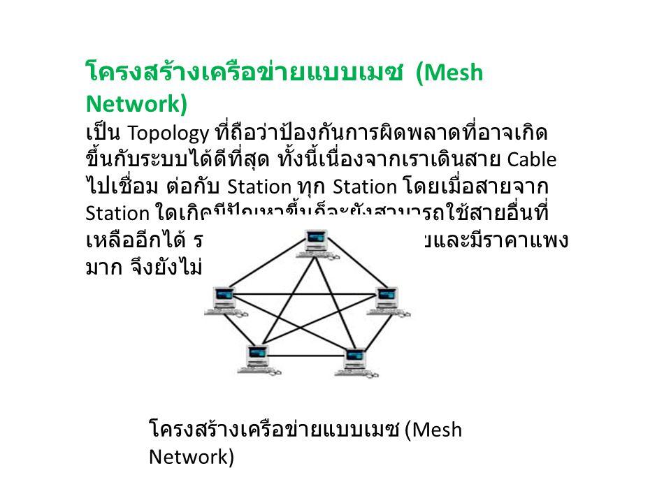โครงสร้างเครือข่ายแบบเมซ (Mesh Network)