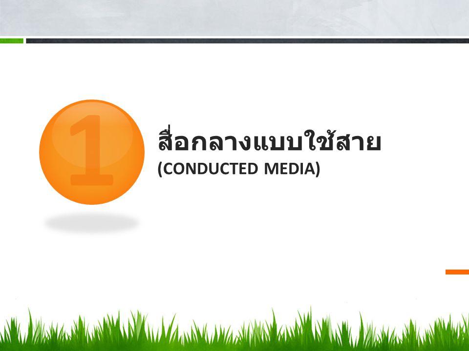 สื่อกลางแบบใช้สาย (Conducted media)