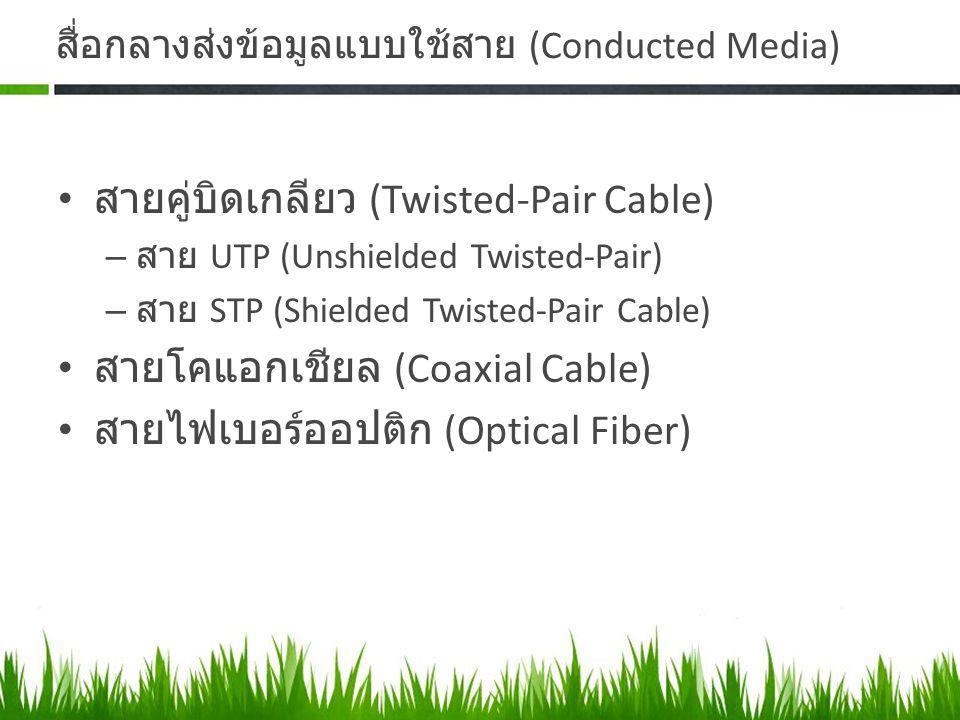 สื่อกลางส่งข้อมูลแบบใช้สาย (Conducted Media)