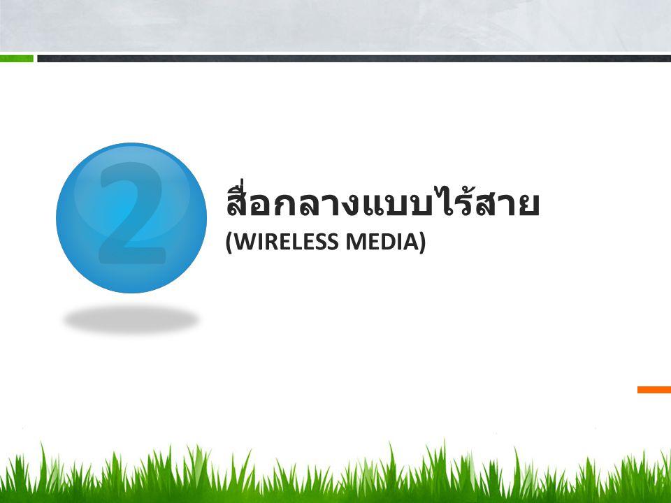 สื่อกลางแบบไร้สาย (Wireless media)