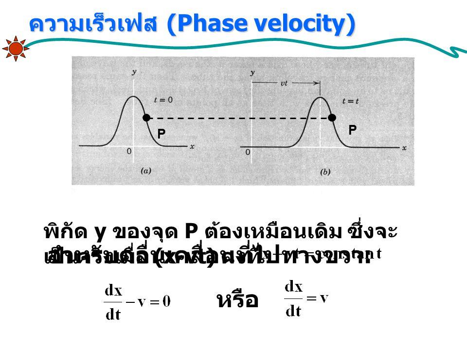 ความเร็วเฟส (Phase velocity)
