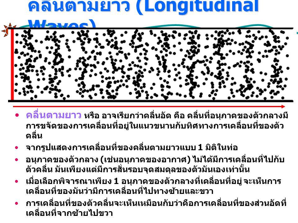 คลื่นตามยาว (Longitudinal Waves)