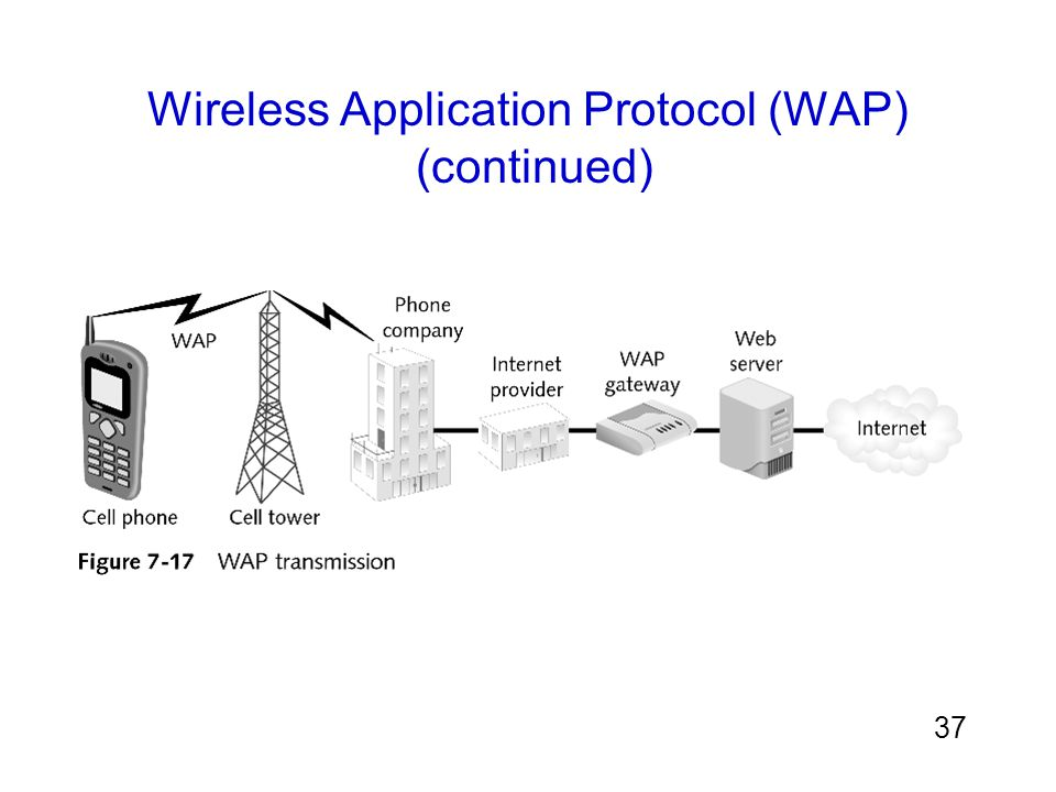 Wireless Application Protocol (WAP) (continued)